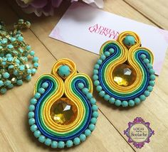 Soutache Jewelry, Different Styles, Color Blocking, Jewerly, Tassels, Jewelry Making, My Favorite Things, Earrings, How To Make