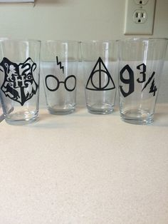 Harry Potter Inspired Pint Glass Set ($15)