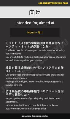 Learn Japanese Grammar: 向け (muke)
