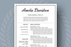 Resume and Cover Letter Modern Resume Template, Resume Templates, Feeling Excited, Creative Resume, New Job, New Beginnings, Success, Lettering, Feelings