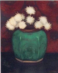 flowers in green pot, Jan Mankes 1889-1920