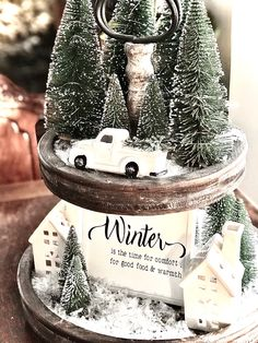 Country Christmas Decorations, Christmas Tablescapes, Farmhouse Christmas Decor, Xmas Decorations, Merry Little Christmas, Cozy Christmas, Christmas Holidays, Christmas Crafts, Tier Tray
