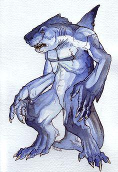 Shark hybrid drawing - photo#46