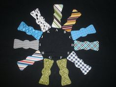 Bow Tie small Ironon Appliques for boy onesie bodysuit by Jenafeda, $2.00
