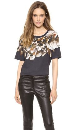 Jason Wu Floral Short Sleeve T-Shirt