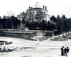 Back of the Hay House in the late 1800s