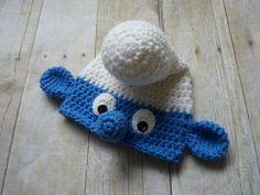 Custom Crochet Smurf Baby Hat van CricketCreations op Etsy