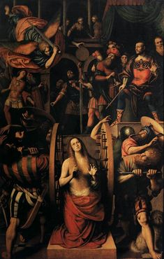 senecasredoubt:  The Martyrdom of Saint Catherine of Alexandria by Gaudenzio Ferrari
