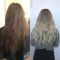 before and after! @ambitionsalon.xo Hair Colour, Color, Long Hair Styles, Beauty, Colour, Beleza, Long Hairstyle, Long Hair Cuts, Colors