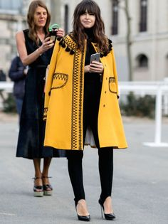 Fashion Week Street Style. Mira (and Anna behind her!) at Paris Fashion Week AW15 #MiroslavaDuma