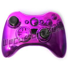 Chrome Purple 360 Controller With Matching Buttons & Trim