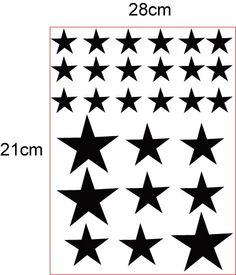 Removable star wall stickers for children - black star stickers Black Wall Stickers, Star Stickers, Star Wall, Black Walls, Black Star, Boy Room, Decoration, Creations, Stars