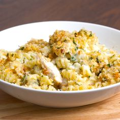 Chicken Kiev Pasta Bake, by Twisted.