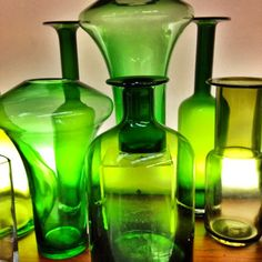 green glass vignette via @happymundane on Instagram