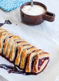 sour cream blueberry sour cherry puff pastry braid
