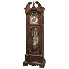 Howard Miller Coolidge Floor Clock (7,555 CAD) ❤ liked on Polyvore featuring home, home decor, clocks, astrology moon sign, howard miller, zodiac moon sign, distressed clock and zodiac signs