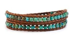 Turquoise Wrap Bracelet from Girl Intuitive. Saved to My Closet. Shop more products from Girl Intuitive on Wanelo.