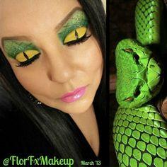 BEAUTY & MAKEUP - Brilliant Green Viper look by Florfxmakeup using Sugarpill Buttercupcake