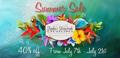 Ilonka's Scrapbook Designs: It's Summer Sale at Ilonka's Scrapbook Designs