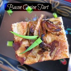 Last minute easy Thanksgiving appetizer: Bacon Onion Tart | Teaspoonofspice.com