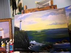 How to paint ocean waves with sparkles Acrylic painting tips and tricks...