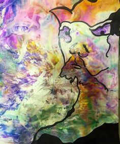 Shaving Cream Print- The Mad King! WickArtTherapy.blogspot.com