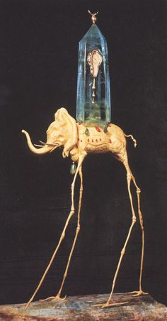 Space elephant by Salvador Dalí, 1961