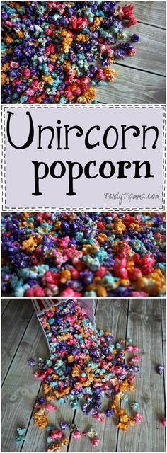 This recipe for Unicorn Popcorn (or rainbow popcorn--whatever) is so easy! I love the idea...I can't wait to make it for my kids!