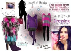 """""""Thought of the Day - Live Right Now, Just Be Yourself"""" by skr-designs on Polyvore"""