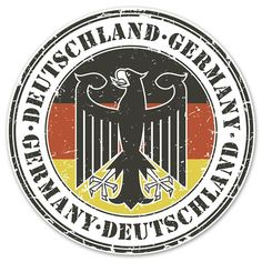 Deutschland Badge German Pride Decal Made In The USA With