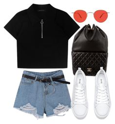 """Sin título #3272"" by camilae97 ❤ liked on Polyvore featuring Chanel and Garrett Leight"