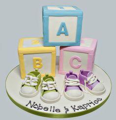 Baby Blocks Cake by Love & Sugar Bakeshop, via Flickr