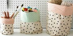 Fabric Buckets Tutorial | Apartment Apothecary - made 2/2016 for a baby shower, 4/2016 for a just-because gift