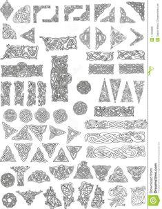 Illustration about Celtic motifs, ornaments and signs. Illustration of motif, paint, artistic - 11450826 Celtic Knot Tattoo, Norse Tattoo, Viking Tattoos, Viking Designs, Celtic Knot Designs, Viking Symbols, Viking Art, Viking Woman, Tatoo Elephant