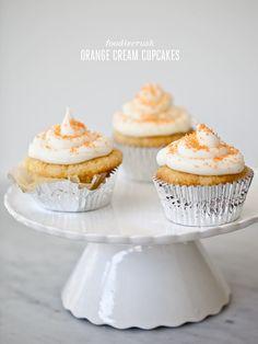 Orange Cream Cupcakes from FoodieCrush