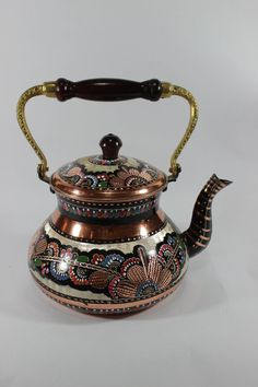 This is a fantastic handmade and handpainted Turkish Tea maker. I enjoy to look on every detail.  You may use it in the kitchen or for decoration at a precious corner of your home.