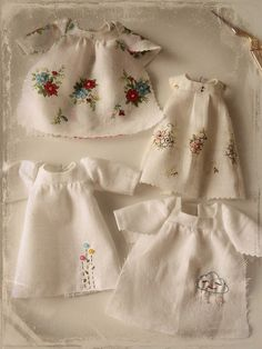 vintage hankies made into dresses |  Shelly; Gingermelon