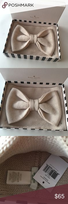New Kate Spade Bow neck wrap nwt New Kate Spade gathered Bow neck wrap. Can be used as ear warmer or neck wrap your versatile winter staple ❤️ NEW in box with tags in Pumice retail $88 - Perfect  🎁 ! kate spade Accessories Scarves & Wraps