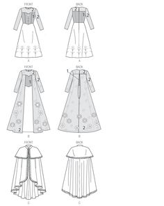McCall's M7000 Misses'/Children's/Girl Costumes (Frozen: Anna & Elsa) [Pattern Images]