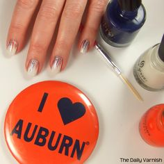 Auburn nails.