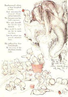 Rose O'Neill Kewpies and Mermaids #Mermaids #1920s
