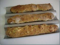 Baguettes au gruyère et aux lardons