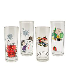 Another great find on #zulily! Peanuts Holiday Glass Set #zulilyfinds