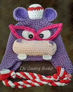 Nurse Hippo Hat is so much fun! Whether you're a fan of Doc McStuffins or just the profession of nursing, this pattern is a must have!