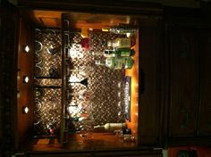 Converted my armoire into a mini bar! I love this!!!