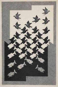 Maurits Cornelis Escher (Dutch, 1898-1972) Sky and Water II PRINTS AND MULTIPLES 18 Dec 2017, 14:00 GMT