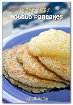 Helyn's Healthy Kitchen: CrAzY Easy 3-ingredient Potato Pancakes… vegan, gluten-free and oil-free!