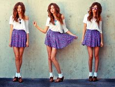 Floral skirt girly outfits, hipster outfits, outfits for teens, hip Hipster Dress, Hipster Outfits, Hipster Fashion, Girly Outfits, Outfits For Teens, Teen Fashion, Cute Outfits, Fashion Outfits, Fashion Story