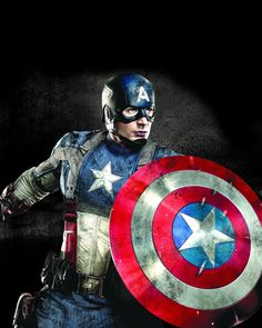 Enjoy this classic portrait of Chris Evans as Captain America, The First Avenger. Makes a great gift for Cap fans and ready for framing. - Ships only within the United States - Custom printed, made to Marvel Captain America, Captain America Photos, Capitan America Marvel, Capitan America Chris Evans, Chris Evans Captain America, The Avengers, Hulk, Marvel Comics, Science Fiction