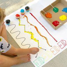 Motor Skills Activities, Montessori Activities, Infant Activities, Activities For Kids, Kindergarten Learning, Fun Learning, Toddler Preschool, Preschool Crafts, Projects For Kids